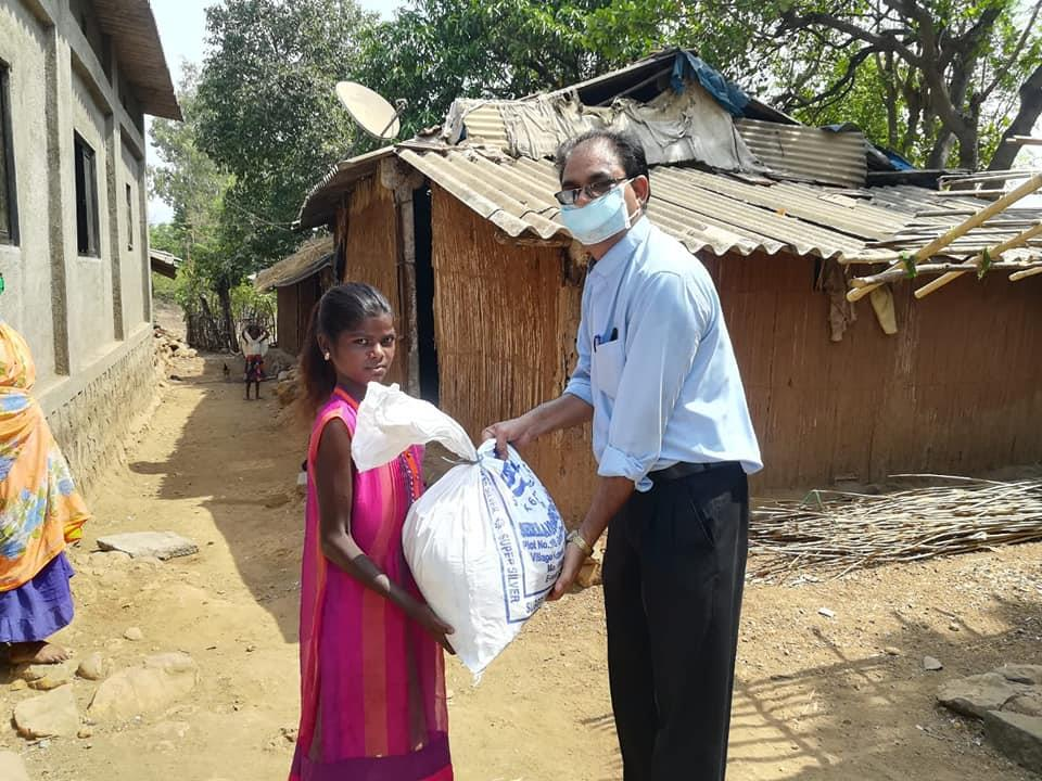 Third day distribution of grocery bag's at our Mission Field, Akhloli-Palghar