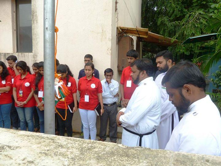 Independence day flag hoisting